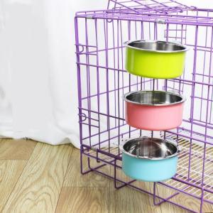 ペット用品 ペット用フードボウル ハンガー食器 フードボウル 犬 いぬ 猫 ねこ キャットフード ドッグフード ゲージ取り付け可能 ステンレス プラス