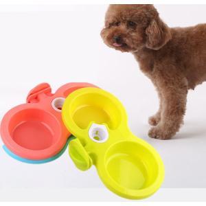 ペット用 餌入れ フードボウル ボール 食器 エサ台 犬 猫 ペットボウル ご飯皿 ケージ掛け 餌水同時やり 自動給水可能 瓶なし