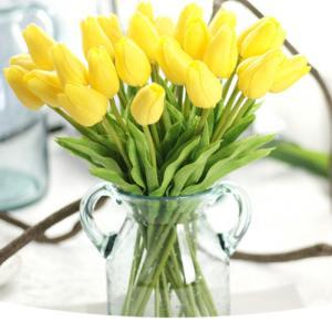 チューリップ 造花 花束 アートフラワー 春 枯れない花 ブーケ 花束 アレンジメント 同色5本セット インテリア飾り 母の日 結婚式 記念日 誕生日プレ|cactus0812