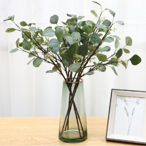 人工観葉植物 フェイクグリーン 造花 同色3本セット ユーカリの葉 リース 本物そっくり 葉 ユーカリ デコ素材 ブーケ アレンジ|cactus0812