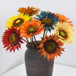 造花 ひまわり 花束 シルクフラワー 向日葵 春 枯れない花 ブーケ 花束 アレンジメント 同色2本セット インテリア飾り おしゃれ|cactus0812