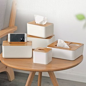 ティッシュケース ペーパータオルケース ボックス ティッシュ 箱 北欧風 おしゃれ 木製 ウッド 可愛い ふた付き 竹 家具 スマホスタンド シンプル