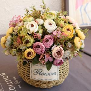 造花 インテリア お洒落 雑貨 ナチュラル 飾り 1本椿の花 おしゃれ 部屋装飾 結婚式 花束 ブーケ フェイクグリーン プレゼント ギフト|cactus0812
