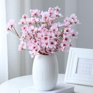 桃の花 桃スプレー(造花・アートフラワー)】2本セット 良質 桃 ずっと綺麗 春の飾り 桃の節句 雛祭り ひなまつり|cactus0812