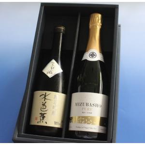 水芭蕉ピュア MIZUBASHO PURE フルボトル720ml&水芭蕉の代表銘柄 純米吟醸 720ml永井酒造 日本酒2本セット[日本酒セット]|caesar1995