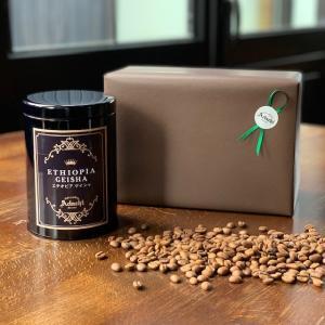 コーヒー豆 敬老の日 ギフト エチオピア・ゲイシャ 高級缶入り 100g(10杯) cafe-adachi