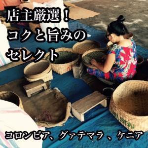 全国送料無料! コーヒー豆 コクと旨みのセレクト ストレートコーヒー飲み比べセット 200g × 3袋|cafe-adachi
