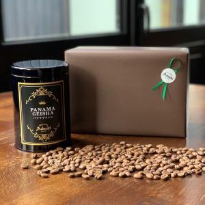 コーヒー豆 送料無料 敬老の日 ギフト パナマ・ゲイシャ 高級缶入り 100g(10杯) cafe-adachi