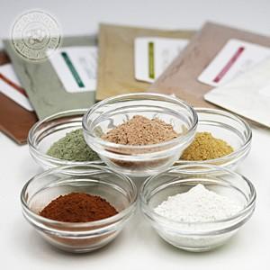 (ポストお届け可/12) フレンチクレイ・お試し5色セット(20gx5) (手作り石鹸 コスメ フェイスパック アロマ クレイセラピー)|cafe-de-savon
