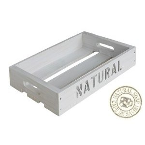 Cafe de Savonオリジナル木箱 Sサイズ ホワイト (手作り石鹸 乾燥 収納)