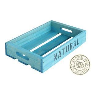 Cafe de Savonオリジナル木箱 Sサイズ ブルー (手作り石鹸 乾燥 収納)|cafe-de-savon