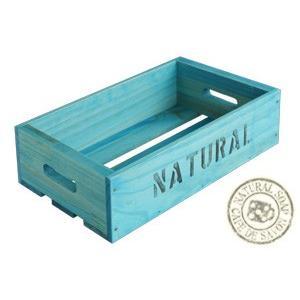 Cafe de Savonオリジナル木箱 Lサイズ ブルー (手作り石鹸 乾燥 収納)|cafe-de-savon