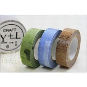(ポストお届け選択OK) マスキングテープ コラージュ 15mm(CRAFT Log) 3色セット|cafe-de-savon