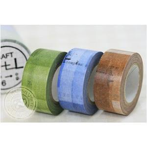 マスキングテープ コラージュ 22mm(CRAFT Log) 3色セット|cafe-de-savon