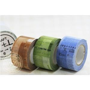 マスキングテープ コラージュ 30mm(CRAFT Log) 3色セット|cafe-de-savon