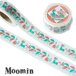 ムーミン マスキングテープ 馬車とアンブレラ ホワイト|cafe-de-savon
