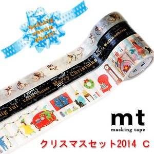 mtクリスマスセット2014 C 3色セット (マスキングテープ)|cafe-de-savon