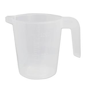 計量カップ PP 1L [取っ手 メモリ付き] (手作り石鹸 道具 ポリプロピレン ビーカー)