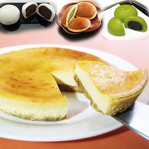 ギフト 送料無料 選べる!チーズケーキと和菓子セット(限定 人気 送料込 詰め合わせ 贈答 贈り物)|cafe-enishida