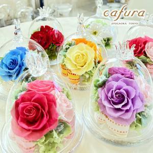 プリザーブドフラワー お祝 ギフト ガラスドーム|cafura