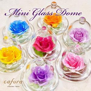 プリザーブドフラワー ミニガラスドーム|cafura
