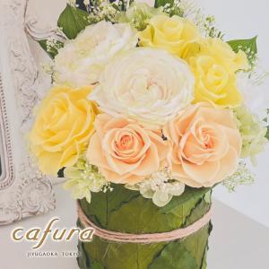 お誕生日 お祝い プリザーブドフラワー プリンセスローズ ケース入り|cafura