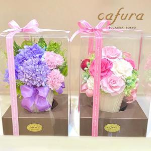 プリザーブドフラワー大輪の薔薇 ケース入り  ロマンティックポット|cafura
