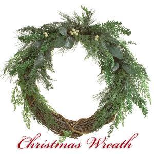 クリスマスリース 北欧風 スノー 70cm 大型 玄関リース ドアチャーム 装飾 デコレーション X'mas 飾り 輪 緑 贈り物 造花 ギフト 年末|cafura