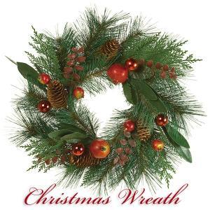 クリスマスリース 北欧風 スノー 50cm 玄関リース ドアチャーム 装飾 デコレーション X'mas 飾り 輪 緑 贈り物 造花 ギフト 年末|cafura