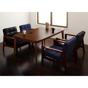 ソファamp;ダイニングセット DARVY ダーヴィ 5点セット(テーブル+1Pソファ4脚) W160【代引不可】[B][00]