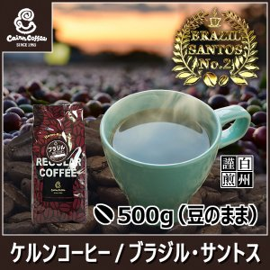 コーヒー豆 ブラジル・サントス 500g(豆のまま) 自家焙煎 珈琲 珈琲豆 商品番号16360|cairncoffee