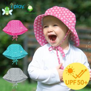 ベビー 帽子 ハット 夏 男の子 女の子 アイプレイ プリントハット ベビー帽子 日よけ UVカット 紫外線対策
