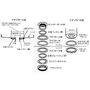 ディスポーザー専用口金調整アダプター(A型)外径170mm|caj110|02