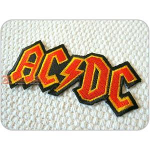刺繍ワッペン/ACDC.RD/ロック/ロゴ/文字/メール便送料無料/アイロン/アップリケ/CaJu+NiC[カジュニック]|cajunic