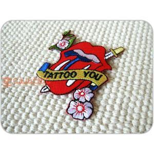 刺繍ワッペン/StonesTatooYou/ストーンズ/メール便送料無料/アイロン/アップリケ/CaJu+NiC[カジュニック]|cajunic