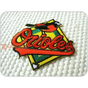 刺繍ワッペン/BaltimoreOrioles/BAL/ボルチモア・オリオールズ/野球/メール便送料無料/アイロン/アップリケ/CaJu+NiC[カジュニック] cajunic