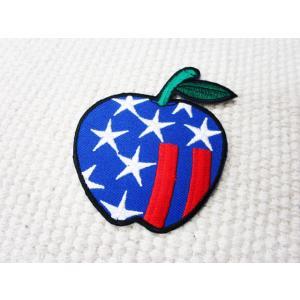 刺繍ワッペン/アメリカンアップル.Dynamic/USA/星条旗/メール便送料無料/アイロン/アップリケ/CaJu+NiC[カジュニック]|cajunic