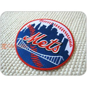 刺繍ワッペン/Mets.BIG/NYM/ニューヨーク/メジャーリーグ/野球/メール便送料無料/アイロン/アップリケ/CaJu+NiC[カジュニック] cajunic