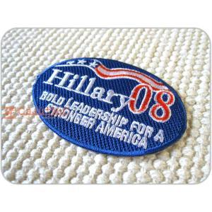 刺繍ワッペン/Hillary08/ヒラリー・クリントン/アメリカ/USA/メール便送料無料/アイロン/アップリケ/CaJu+NiC[カジュニック] cajunic