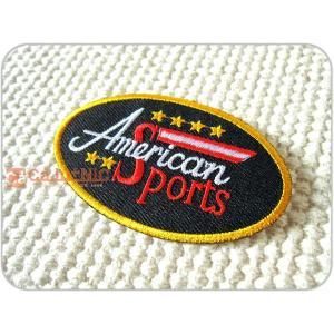 刺繍ワッペン/AmericanSports/アメリカンスポーツ/USA/ユニフォーム/メール便送料無料/アイロン/アップリケ/CaJu+NiC[カジュニック]|cajunic