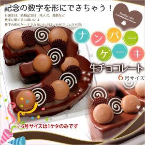 『ナンバーケーキ』6号 生チョコレートタイプ 誕生日ケーキ アニバーサリーケーキ♪数字を形のケーキでお祝い☆|cake-tairiku