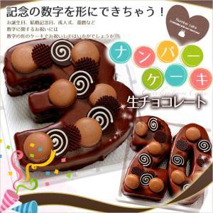 数字の形のケーキ ナンバーケーキ 7号 生チョコレートタイプ...