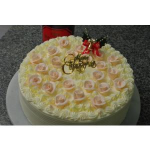 昔ながらのバタークリームのクリスマスケーキ8号...