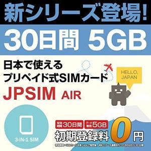 プリペイドSIMカード JPSIM AIR 30日間 5GBプラン SIMピン付|calendar-world