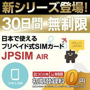 プリペイドSIMカード JPSIM AIR 30日間day無制限プラン SIM変換アダプター&SIMピン付