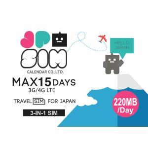 プリペイドSIMカード JPSIM 15days day/220MB 日本で使えるプリペイドSIMカード(Prepaid SIM card )|calendar-world