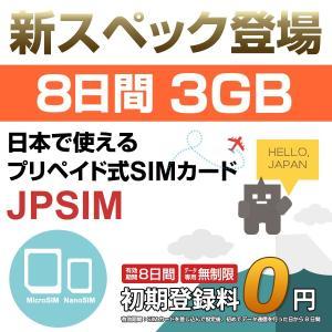 プリペイドSIMカード JPSIM 8days LTE3GB使い切りプラン 日本で使えるプリペイドSIMカード(Prepaid SIM card)|calendar-world