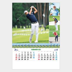名入れカレンダー 2019 壁掛け MH-11 トーナメントゴルフ 200冊