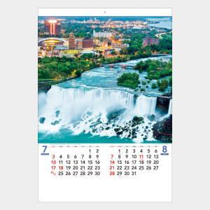 名入れカレンダー 2019 壁掛けSB-031 世界風景 50冊