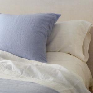 OXYGEN ベルギー ベッド リネン 麻 フラット シーツ 180x300 シエル(水色) 【送料無料】